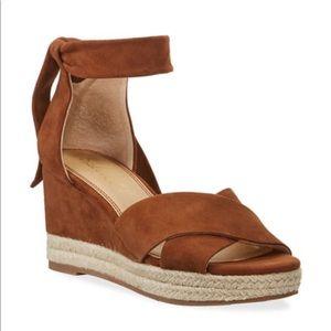 NWT Splendid Terrence Ankle Wrap Wedge Sandals